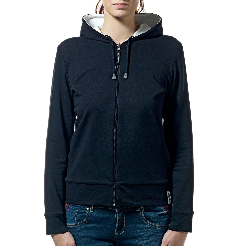 Women's black&white hoodie