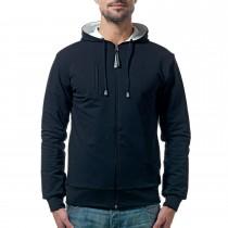 Man's black&white hoodie